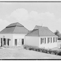 C.J. LaRoche, residence in Fairfield, Connecticut. Pool pavilion from northwest