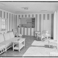 C.J. LaRoche, residence in Fairfield, Connecticut. Pool pavilion, to bar and kitchen