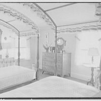 C.J. LaRoche, residence in Fairfield, Connecticut. Red guest room
