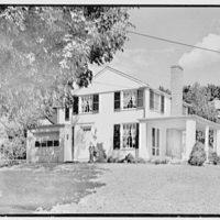 Clifford White, residence in Harmon, New York. Entrance facade
