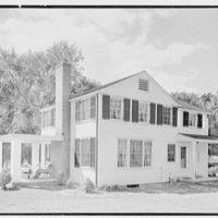 Clifford White, residence in Harmon, New York. Rear