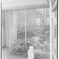 Collier's House at PEDAC, New York City. Detail of rear terrace I