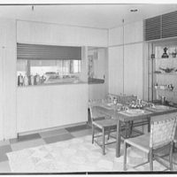 Collier's House at PEDAC, New York City. Dining room table