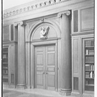 Dr. Henry W. Berg Room, at Public Library, 5th Ave. and 42nd St., New York Entrance detail with Della Robbia