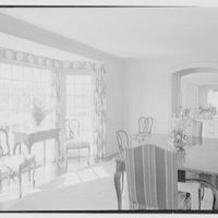 Edmund Davenport, residence in New Canaan, Connecticut. Dining room