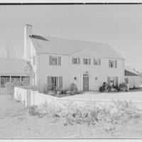 Edmund Davenport, residence in New Canaan, Connecticut. Entrance facade