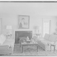 Edmund Davenport, residence in New Canaan, Connecticut. Living room