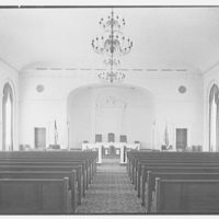 Elizabeth City Hall, Elizabeth, New Jersey. Council chamber, axis to rostrum
