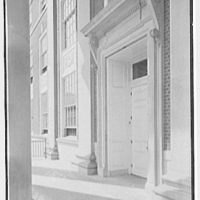 Elizabeth City Hall, Elizabeth, New Jersey. Entrance detail