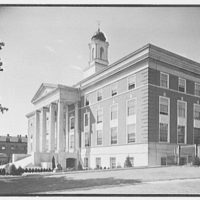 Elizabeth City Hall, Elizabeth, New Jersey. General exterior from right I