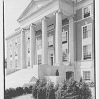 Elizabeth City Hall, Elizabeth, New Jersey. Portico detail