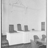 Elizabeth City Hall, Elizabeth, New Jersey. Rostrum desk and panel detail
