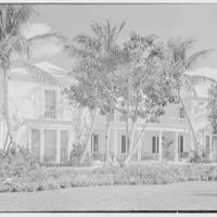 Ellsworth C. Warner, residence at Pelican Rd. and El Vedado, Palm Beach, Florida. Terrace, general view from left