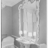 Ellsworth C. Warner, residence at Pelican Rd. and El Vedado, Palm Beach, Florida. Baroque powder room III