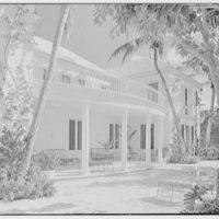 Ellsworth C. Warner, residence at Pelican Rd. and El Vedado, Palm Beach, Florida. Terrace toward porch