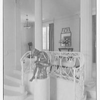 Ellsworth C. Warner, residence at Pelican Rd. and El Vedado, Palm Beach, Florida. Foyer, detail of statue