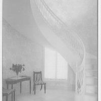 Ellsworth C. Warner, residence at Pelican Rd. and El Vedado, Palm Beach, Florida. Staircase from below