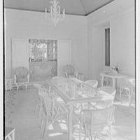 Ellsworth C. Warner, residence at Pelican Rd. and El Vedado, Palm Beach, Florida. Pavilion, to bar