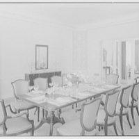 Ellsworth C. Warner, residence at Pelican Rd. and El Vedado, Palm Beach, Florida. Dining room, to mirror screen