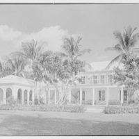 Ellsworth C. Warner, residence at Pelican Rd. and El Vedado, Palm Beach, Florida. Lake facade, general view