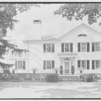 Ferdinand T. Wilcox, residence in New Canaan, Connecticut. East facade, horizontal