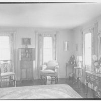 Ferdinand T. Wilcox, residence in New Canaan, Connecticut. Reception room, to windows