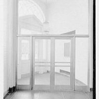First National Bank, Post Rd., Greenwich, Connecticut. Entrance from inside