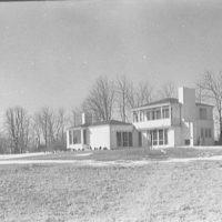 George King, residence in Setauket, Long Island. Rear of house