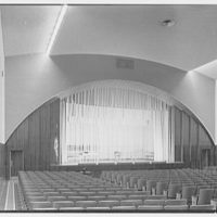 Harrison High School, Harrison, New York. Auditorium, to stage