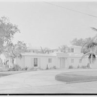 Harry R. Playford, residence at 415 Brightwaters Blvd., St. Petersburg, Florida. General entrance view from street