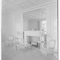Harry R. Playford, residence at 415 Brightwaters Blvd., St. Petersburg, Florida. Living room fireplace