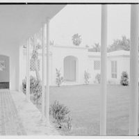Harry R. Playford, residence at 415 Brightwaters Blvd., St. Petersburg, Florida. Loggia, to entrance II