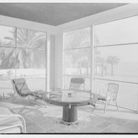 Harry R. Playford, residence at 415 Brightwaters Blvd., St. Petersburg, Florida. Porch