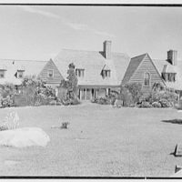 Henry W. Bagley, residence on Fishers Island, New York. Entrance facade, broad view