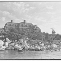 Henry W. Bagley, residence on Fishers Island, New York. House from dock II