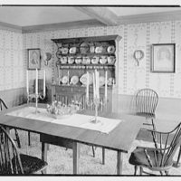 Henry W. Bagley, residence on Fishers Island, New York. Main house, dining room