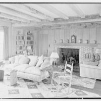 Henry W. Bagley, residence on Fishers Island, New York. Main house, living room, to fireplace I