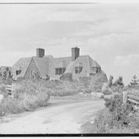 Henry W. Bagley, residence on Fishers Island, New York. Roof line from road