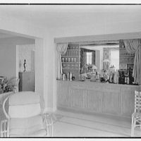 Herman Wall, residence at 245 E. Rivo Alta Dr., Miami Beach, Florida. Bar on lower porch