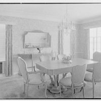 Herman Wall, residence at 245 E. Rivo Alta Dr., Miami Beach, Florida. Dining room