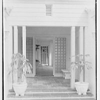 Herman Wall, residence at 245 E. Rivo Alta Dr., Miami Beach, Florida. Entrance detail