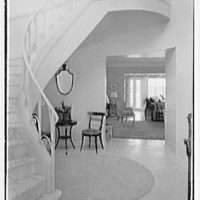 Herman Wall, residence at 245 E. Rivo Alta Dr., Miami Beach, Florida. Staircase from entrance door