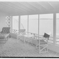Herman Wall, residence at 245 E. Rivo Alta Dr., Miami Beach, Florida. Upper porch and view