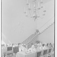 Holland House, 10 Rockefeller Plaza, New York City. Banquet hall, detail of chandelier and wall relief