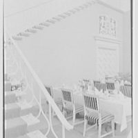 Holland House, 10 Rockefeller Plaza, New York City. Banquet hall, detail of staircase