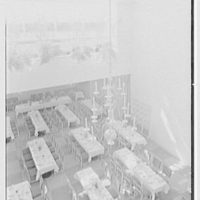 Holland House, 10 Rockefeller Plaza, New York City. Banquet hall from above
