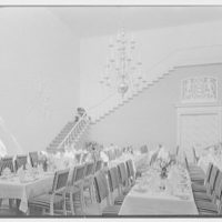 Holland House, 10 Rockefeller Plaza, New York City. Banquet hall toward stairs