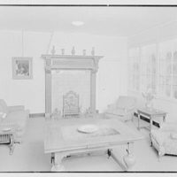 Holland House, 10 Rockefeller Plaza, New York City. Lounge, to fireplace, revised