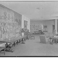 Holland House, 10 Rockefeller Plaza, New York City. Lounge to north