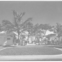 Howard Kittell, residence at 2525 Sunset Dr., Sunset Island, no. 2, Miami Beach, Florida. Entrance facade